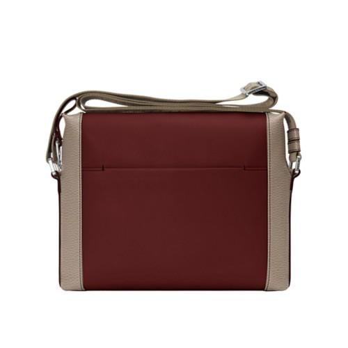Mini messenger bag L5 - White-Mink - Granulated Leather