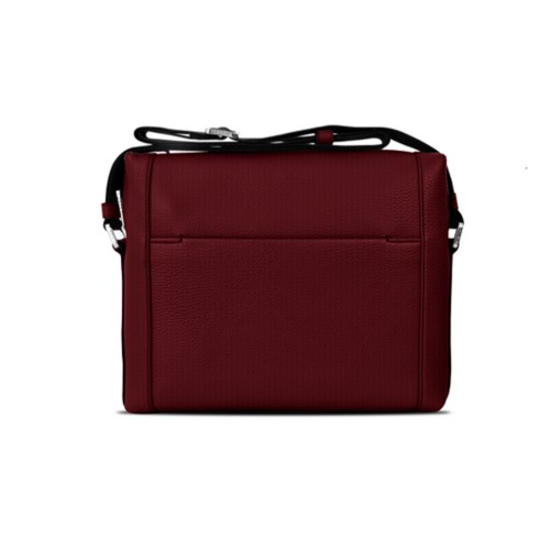 Mini messenger bag L5 - Burgundy - Granulated Leather
