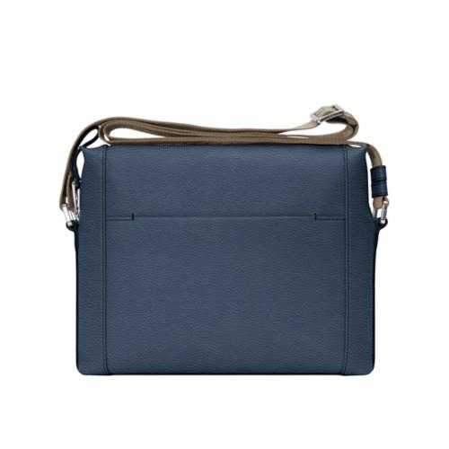 Mini messenger bag L5 - Navy Blue - Granulated Leather
