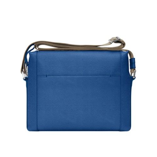 L5 Mini-Kuriertasche - Königsblau  - Genarbtes Leder