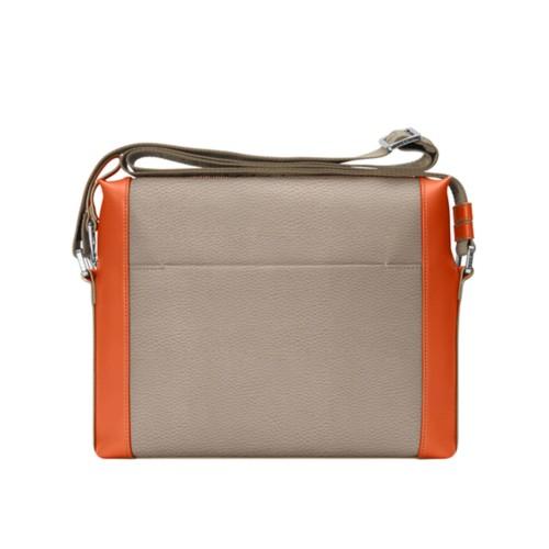 Mini messenger bag L5 - Mink-Orange - Granulated Leather