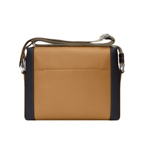 Mini messenger bag L5 - Flake-Black - Granulated Leather
