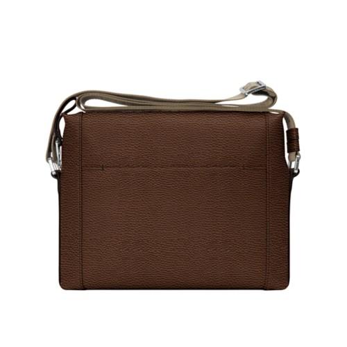 Mini messenger bag L5 - Dark Brown - Granulated Leather