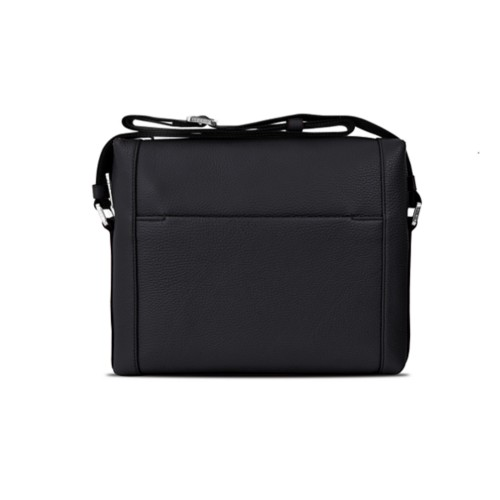 Mini messenger bag L5 - Black - Granulated Leather