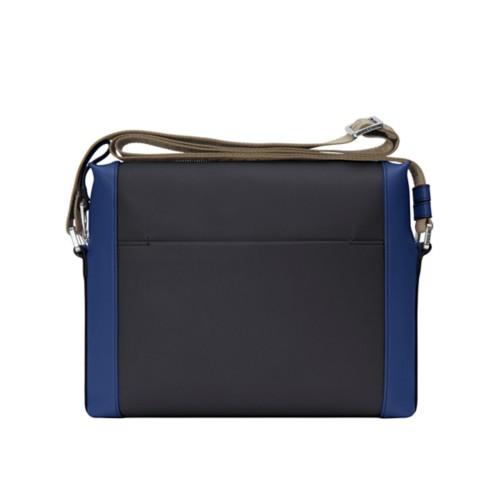 Mini messenger bag L5 - Black-Submarine - Granulated Leather