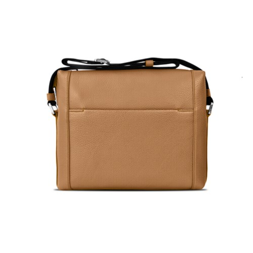 Mini messenger bag L5 - Natural - Granulated Leather