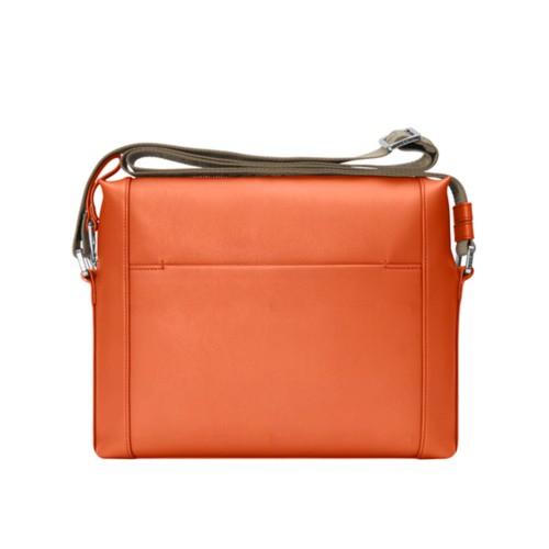 Mini messenger bag L5 - Orange - Granulated Leather