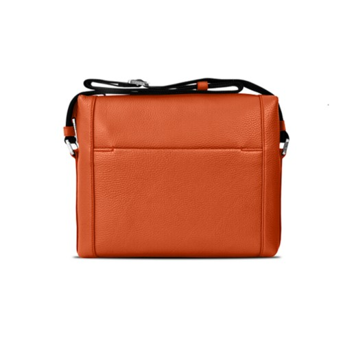 Mini messenger bag L5 - Orange - Granulated Leather