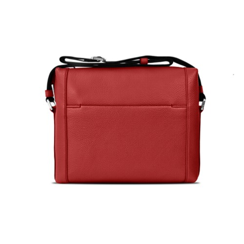 L5 Mini-Kuriertasche - Rot - Genarbtes Leder