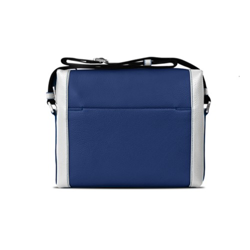 Mini messenger bag L5 - Submarine-White - Granulated Leather