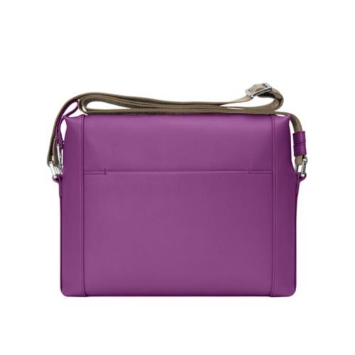 Mini messenger bag L5 - Purple - Granulated Leather