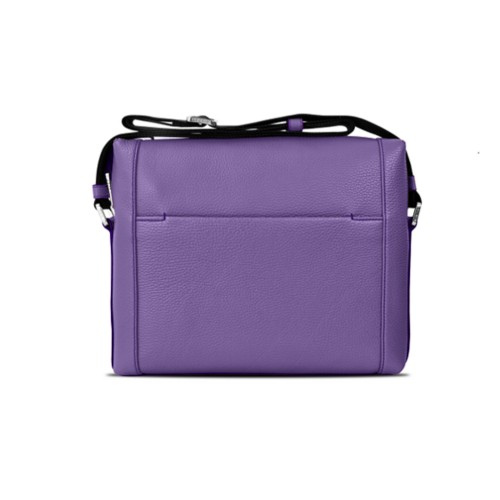 Mini messenger bag L5 - Lavender - Granulated Leather