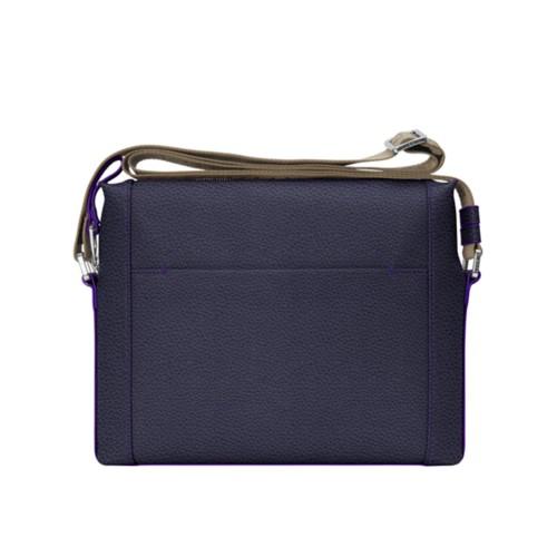 L5 Mini-Kuriertasche - Violett - Genarbtes Leder