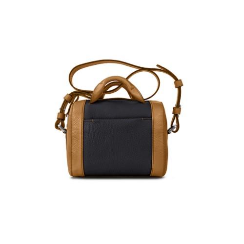 Mini Bowling Bag - Flake-Black - Granulated Leather