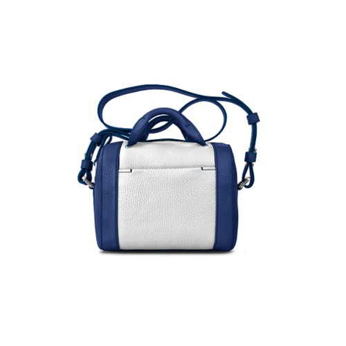 Mini Bowling Bag - Submarine-White - Granulated Leather