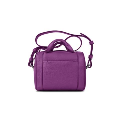 Mini Bowling Bag - Purple - Granulated Leather