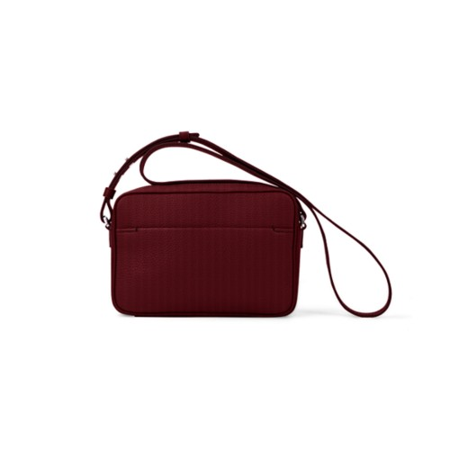 Small Crossbody Bag L5 - Burgundy - Granulated Leather