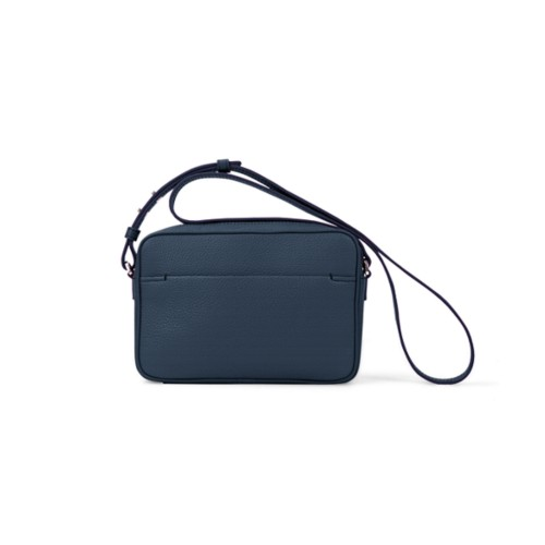 Small Crossbody Bag L5 - Navy Blue - Granulated Leather