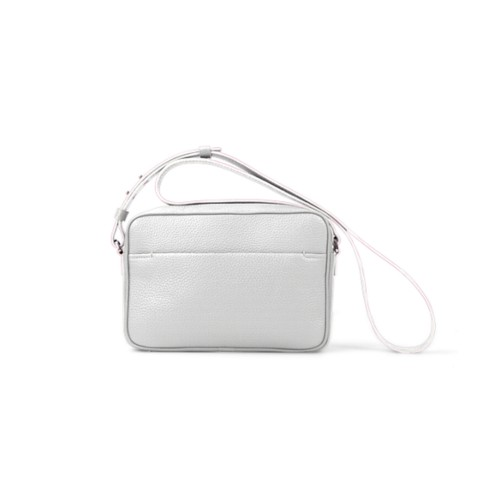 Small Crossbody Bag L5 - White - Granulated Leather