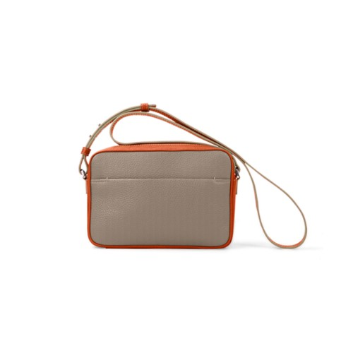 Small Crossbody Bag L5 - Mink-Orange - Granulated Leather