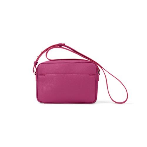 Small Crossbody Bag L5 - Fuchsia  - Granulated Leather