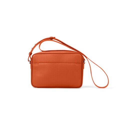 Small Crossbody Bag L5 - Orange - Granulated Leather