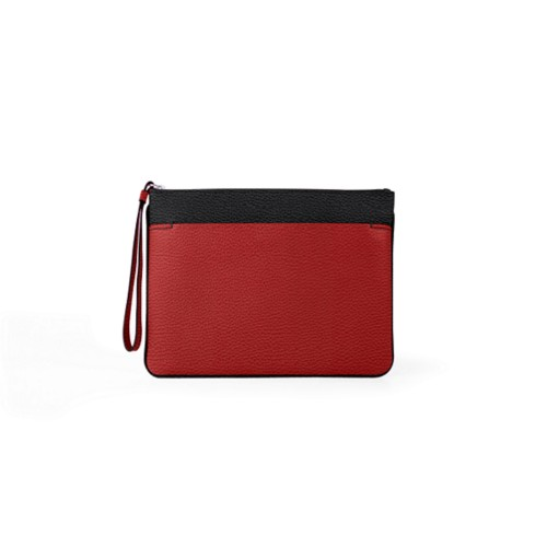 L5 Evening Clutch Bag - L - Black-Red - Granulated Leather