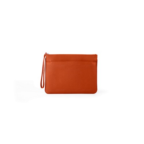 L5 Evening Clutch Bag - M - Orange - Granulated Leather