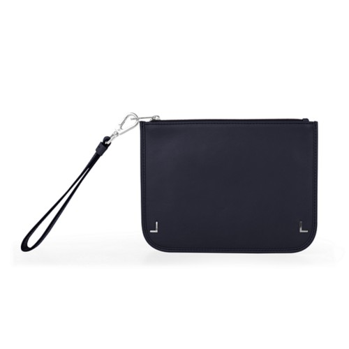 Clutch Purse - Navy Blue - Smooth Leather
