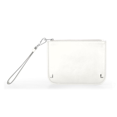 Clutch Purse - White - Smooth Leather