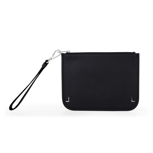 Clutch Purse - Black - Smooth Leather