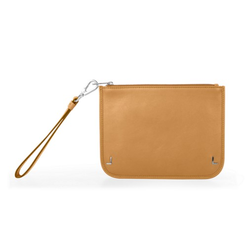 Clutch Purse - Natural - Smooth Leather