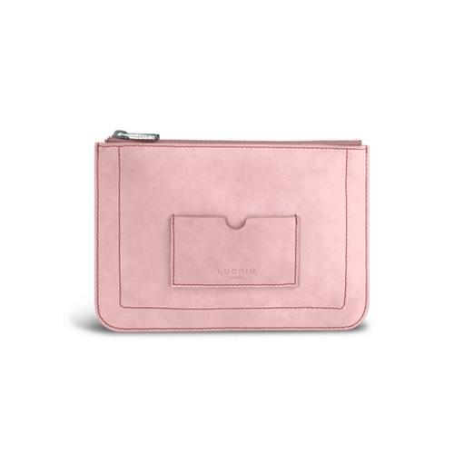 Flat pouch - Pink - Nubuck Calf