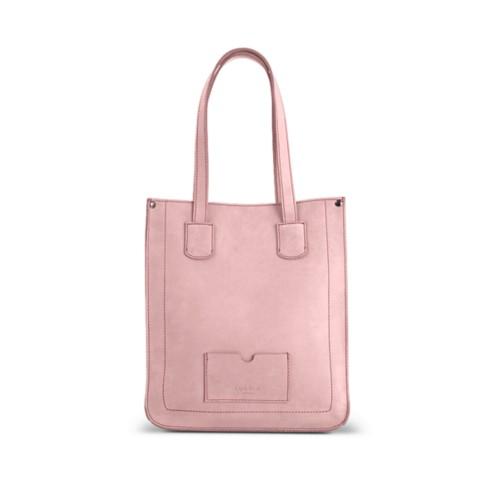 Kleiner Shopper - Rosa - Nubuck-Kalbsleder