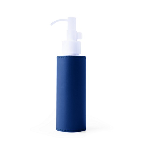 100 ml refillable hand sanitiser bottle - Royal Blue - Smooth Leather
