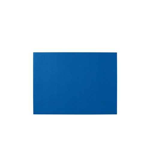 "Decorative desk pad (17.3"" x 10.6"") - Royal Blue - Goat Leather"