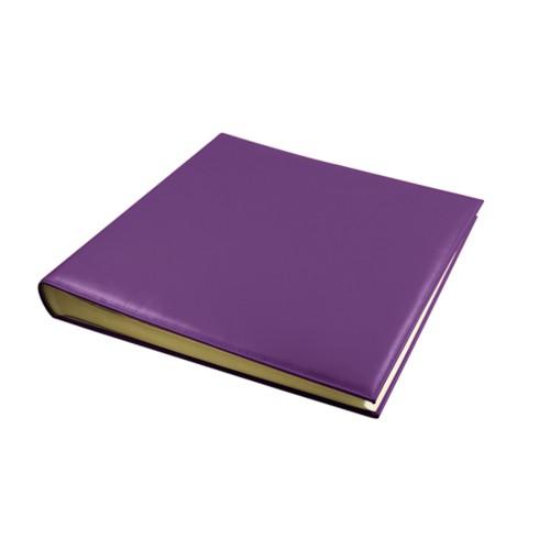 Fotoalbum - 30 vellen (36 x 36 cm) - Lavendel - Soepel Leer