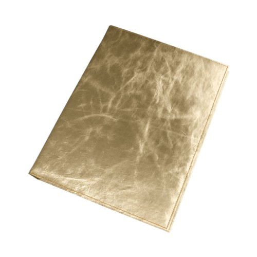 "Photo album - 30 sheets (11.8"" x 9.4"") - Golden - Metallic Leather"