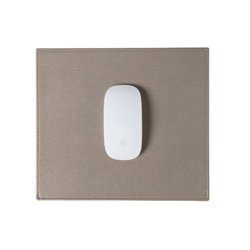 Rectangular mouse pad - Light Taupe - Granulated Leather