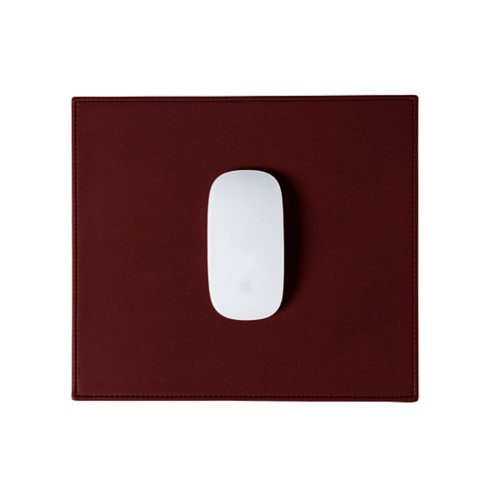 Rectangular Mouse Pad - Burgundy - Smooth Leather