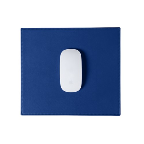Rectangular Mouse Pad - Royal Blue - Smooth Leather