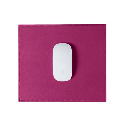 Rectangular Mouse Pad - Fuchsia  - Smooth Leather