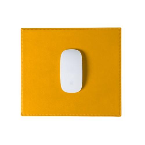 Tapis de souris rectangulaire (26.5x22.5 cm) - Jaune Soleil - Cuir Lisse