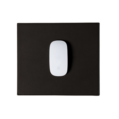 Rectangular Mouse Pad - Brown - Smooth Leather