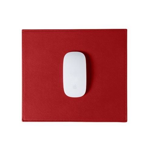Rectangular Mouse Pad - Red - Smooth Leather