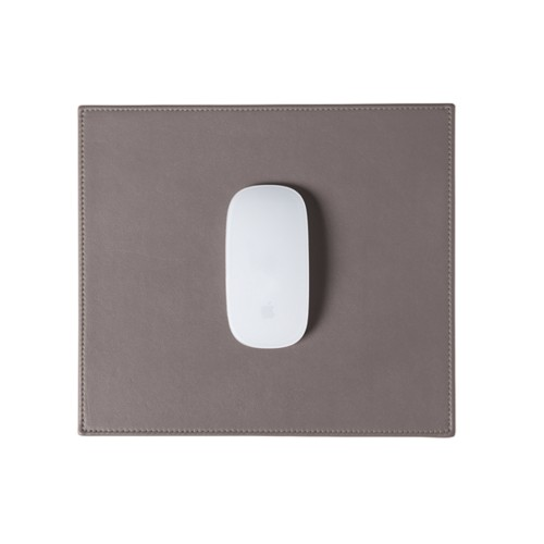 Rectangular Mouse Pad - Light Taupe - Smooth Leather