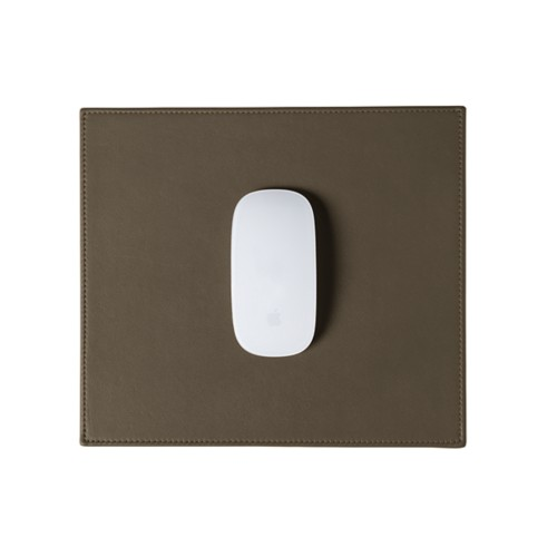 Rectangular Mouse Pad - Dark Taupe - Smooth Leather