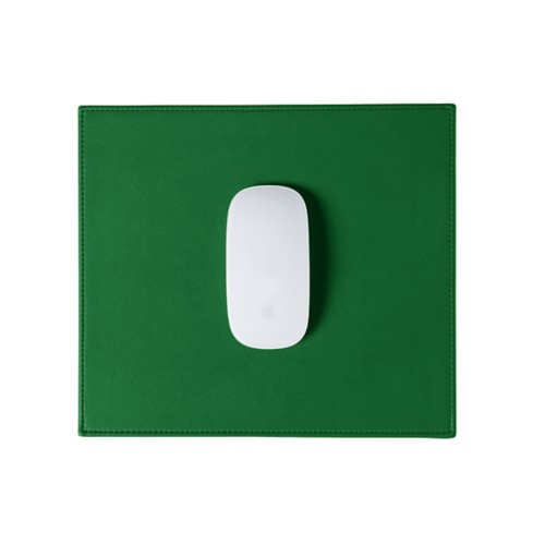 Rectangular Mouse Pad - Light Green - Smooth Leather
