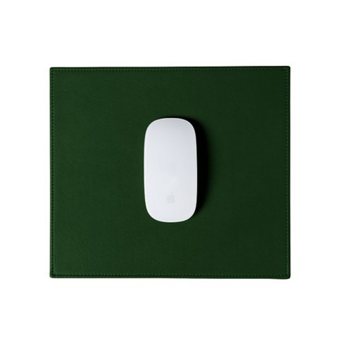Rectangular Mouse Pad - Dark Green - Smooth Leather