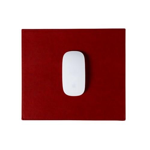 Tapis de souris rectangulaire (26.5x22.5 cm) - Carmin - Cuir végétal